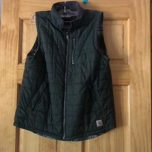 Women's carhhart vest reversible small gently used